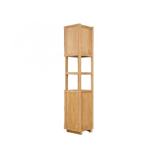 Vysoká skříňka do koupelny z teaku Aqua
