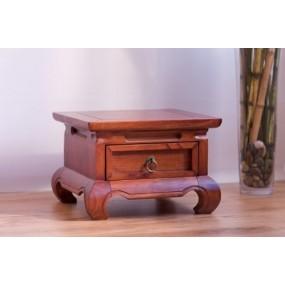 Noční stolek hnědý China - LIKVIDACE VZORKU