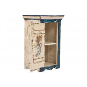 Koupelnová skříňka z manga ručně malovaná Shiva
