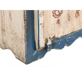 Vysoká skříňka do koupelny ručně malovaná Shiva