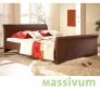 Manželská postel z ratanu Neiva 200x200 - SKLADEM