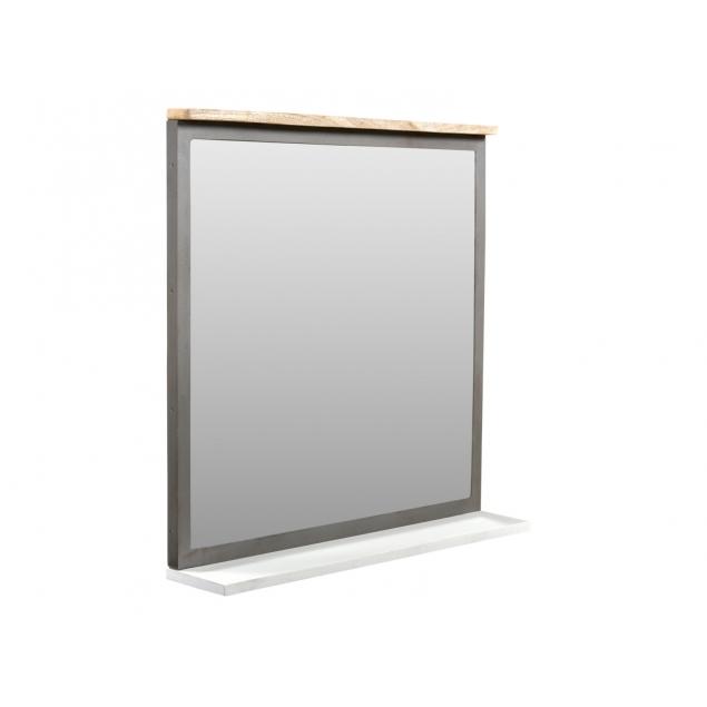 Koupelnové zrcadlo ze dřeva a kovu Hometown