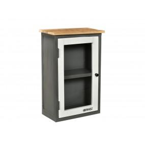 Nástěnná skříňka do koupelny z kovu a dřeva Hometown