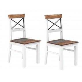 Set 2 židlí z mangového dřeva Melbourne