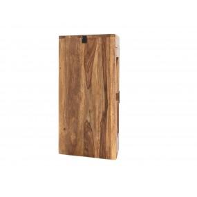Rohová nástěnná skříňka do koupelny z palisandru Kao