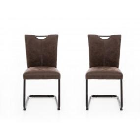 Set 2 židlí z umělé kůže Keston