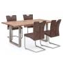 Set 2 židlí z koženky Refton