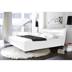 Bílá postel ze syntetické kůže Jade 180x200 - LIKVIDACE VZORKU