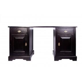 Černý psací stůl z akácie Samba - LIKVIDACE VZORKU