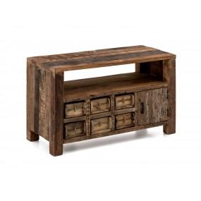 Masivní tv stolek z recyklovaného dřeva Thebeus