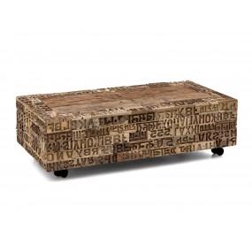 Konferenční stolek na kolečkách z recyklovaného dřeva Thebeus