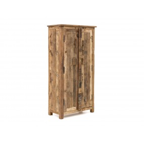 Šatní skříň z masivního recyklovaného dřeva Thebus