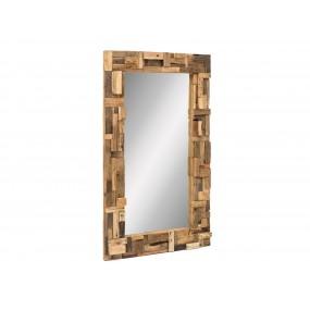 Velké zrcadlo z masivního recyklovaného dřeva Thebus 180x105