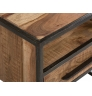 Přírodní noční stolek z kovu a akácie Alabama