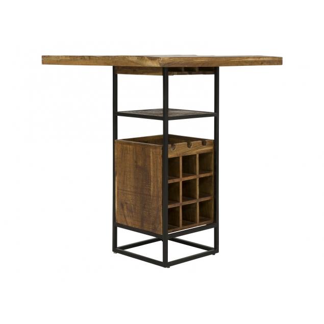 Hnědý barový stůl v industriálním stylu Alabama
