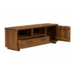Moderní teakový TV stolek Nevada