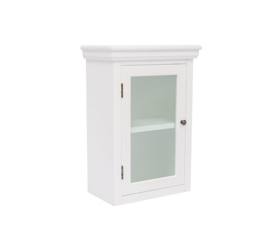 Bílá nástěnná skříňka do koupelny Columbia