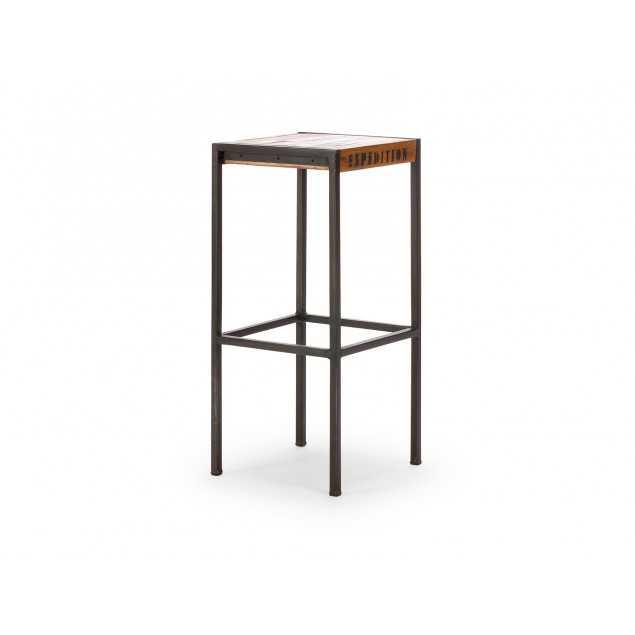 Barová stolička z exotického dřeva Ontario