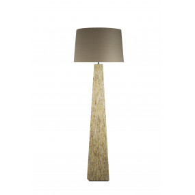 Vysoká lampa z bambusu a...