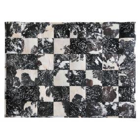 Černo-bílý koberec z hovězí...