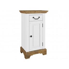 Bílá skříňka do koupelny Minas