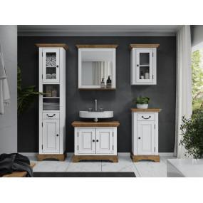 Bílý koupelnový set Minas