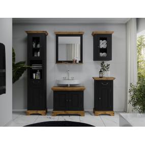 Černý koupelnový set Minas