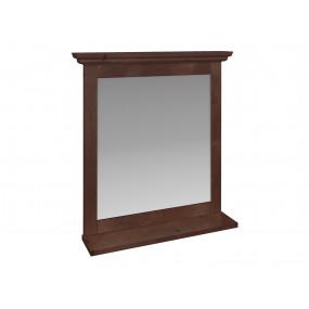 Hnědé koupelnové zrcadlo Minas