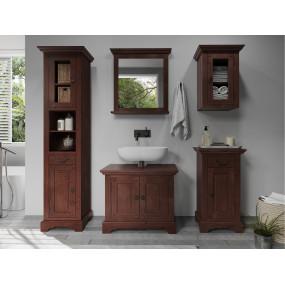 Hnědý koupelnový set Minas