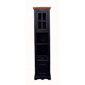 Černá vysoká skříňka do koupelny Sicilia