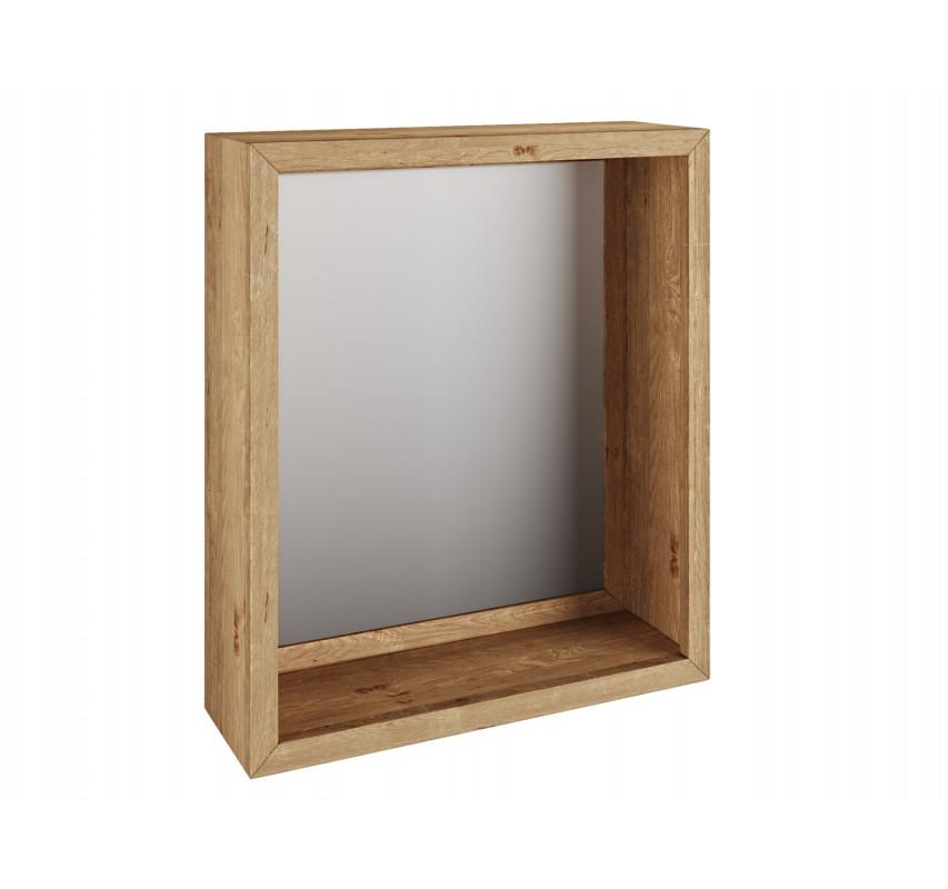 Dřevěné zrcadlo do koupelny Victoria z masivního divokého dubu 56x65