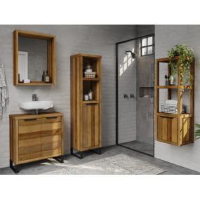 Masivní dřevěný koupelnový...