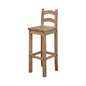 Barová masivní židle z...