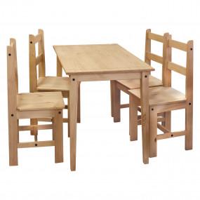 Masivní jídelní stůl 100x80...