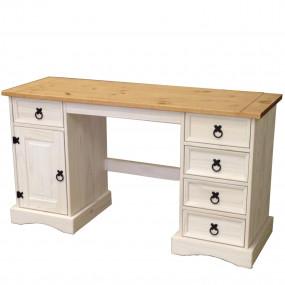 Psací stůl CORONA bílý vosk 16334B 5 malých zásuvek, 1 dvířka