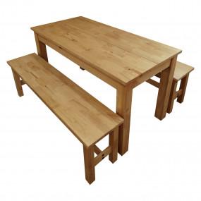 Masivní stůl + lavice CORONA