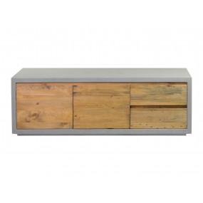 TV stolek Stonewall beton dřevo