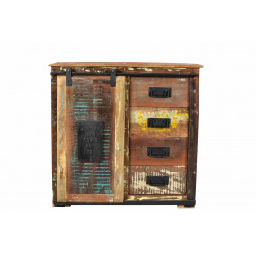 Komoda z recykl. dřeva Jupiter