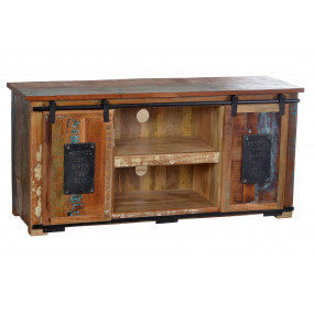 TV stolek z recykl. dřeva...