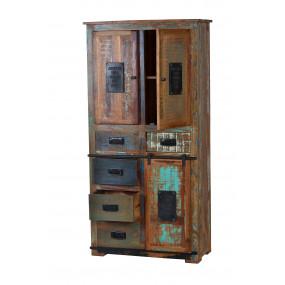 Skříň z recykl. dřeva Jupiter