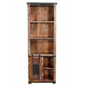 Knihovna z recykl. dřeva Jupiter
