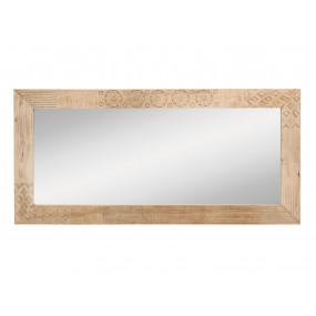 Zrcadlo do koupelny Leoš masivní dřevo mango