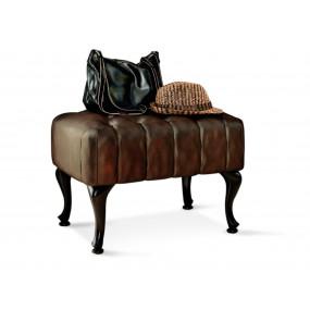 Starožitná stolička z pravé kůže Chesterfield IX