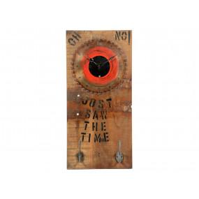 Dřevěné nástěnné hodiny s...
