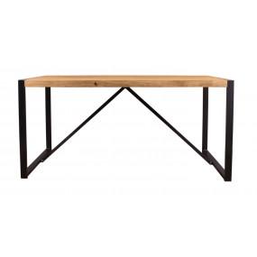 Jídelní stůl z masivu 160x90 Edgar dřevo Akácie železo