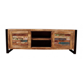 TV stolek z recykl. dřeva Jupiter II