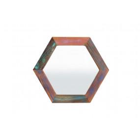 Malé zrcadlo Jupiter staré dřevo