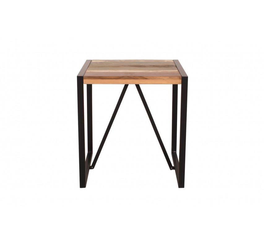 Stůl ze dřeva a kovu 70x70 Jupiter