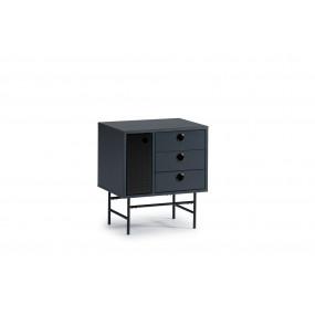 Modročerný noční stolek Teulat