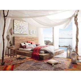 Rustikální dřevěná postel z...